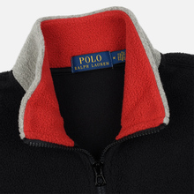Мужская толстовка Polo Ralph Lauren Embroidery Flag Patch U.S.A. Half-Zip Black фото- 1