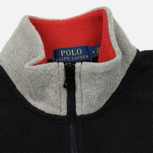 Мужская толстовка Polo Ralph Lauren Embroidery Flag Patch U.S.A. Half-Zip Black фото- 2