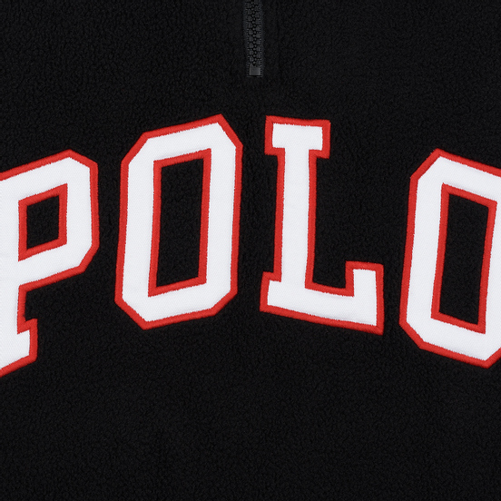 Мужская толстовка Polo Ralph Lauren Embroidery Flag Patch U.S.A. Half-Zip Black