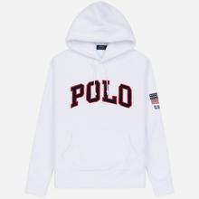 Мужская толстовка Polo Ralph Lauren Embroidery Flag Patch U.S.A. Hoodie White фото- 0