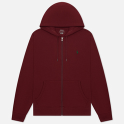 Мужская толстовка Polo Ralph Lauren Full Zip Hoodie Burgundy