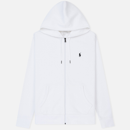Мужская толстовка Polo Ralph Lauren Full Zip Hoodie White