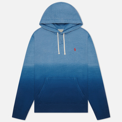 Мужская толстовка Polo Ralph Lauren Garment Dyed Fleece Hoodie Dip Dye Indigo