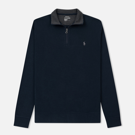 Мужская толстовка Polo Ralph Lauren Half Zip Double Knit Jersey Aviator Navy