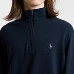 Мужская толстовка Polo Ralph Lauren Half Zip Double Knit Jersey Aviator Navy фото- 3