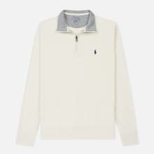 Мужская толстовка Polo Ralph Lauren Half Zip Double Knit Jersey Chic Cream фото- 0