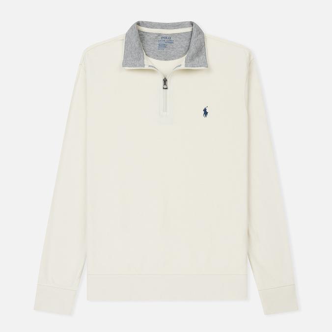 Мужская толстовка Polo Ralph Lauren Half Zip Double Knit Jersey Chic Cream