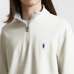Мужская толстовка Polo Ralph Lauren Half Zip Double Knit Jersey Chic Cream фото- 2