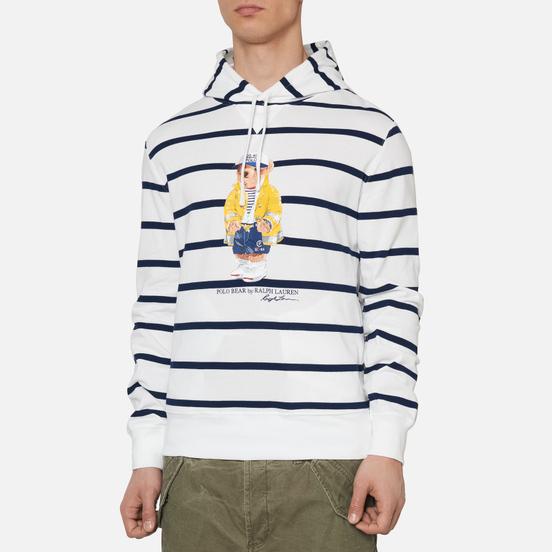 Мужская толстовка Polo Ralph Lauren Iconic Polo Bear Sporting CP-93 Stripe Hoodie White/Cruise Navy
