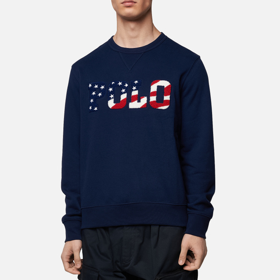 Мужская толстовка Polo Ralph Lauren Logo Americana Inspired Cruise Navy