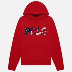 Мужская толстовка Polo Ralph Lauren Logo Americana Inspired Hoodie Red