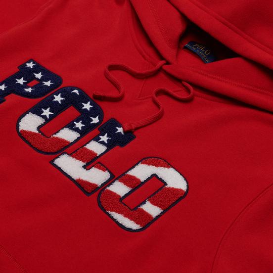 Мужская толстовка Polo Ralph Lauren Logo Americana Inspired Hoodie Red