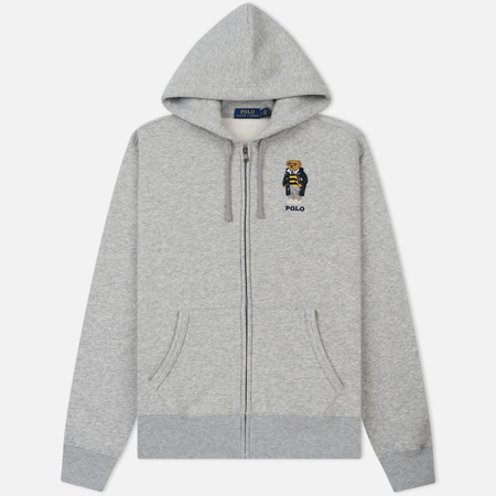 Мужская толстовка Polo Ralph Lauren Logo Bear Hoodie Magic Fleece Andover Heather