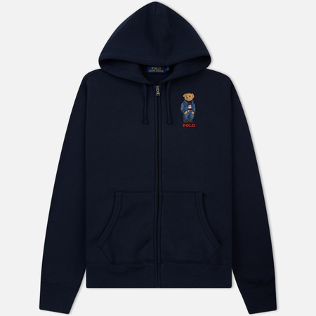 Мужская толстовка Polo Ralph Lauren Logo Bear Hoodie Magic Fleece Aviator Navy