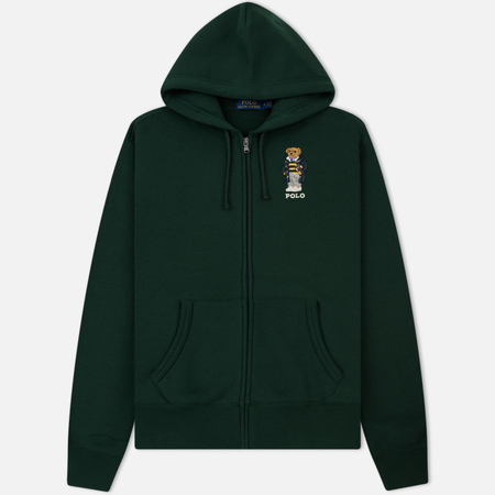 Мужская толстовка Polo Ralph Lauren Logo Bear Hoodie Magic Fleece College Green