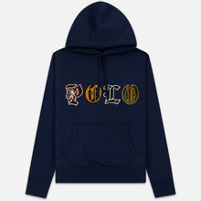 Мужская толстовка Polo Ralph Lauren Patches Heraldic Letters Polo Hoodie Cruise Navy фото- 0