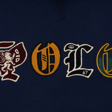 Мужская толстовка Polo Ralph Lauren Patches Heraldic Letters Polo Hoodie Cruise Navy фото- 2