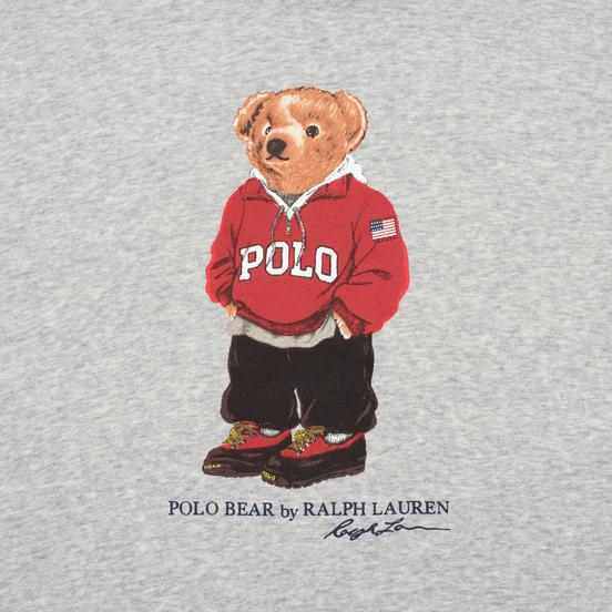 Мужская толстовка Polo Ralph Lauren Polo Bear Logo Hoodie Magic Fleece Andover Heather