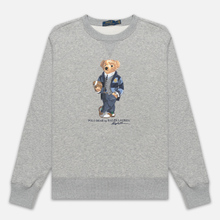 Мужская толстовка Polo Ralph Lauren Bear Ready Play Football In Polo Style Andover Heather фото- 0