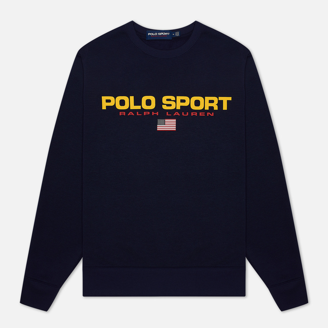 Мужская толстовка Polo Ralph Lauren Polo Sport Crew Neck Neon Fleece Cruise Navy