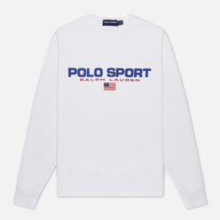 Мужская толстовка Polo Ralph Lauren Polo Sport Crew Neck Neon Fleece White