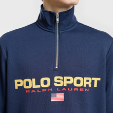 Мужская толстовка Polo Ralph Lauren Polo Sport Half Zip Cruise Navy фото- 2