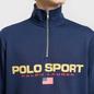 Мужская толстовка Polo Ralph Lauren Polo Sport Half Zip Cruise Navy фото - 2