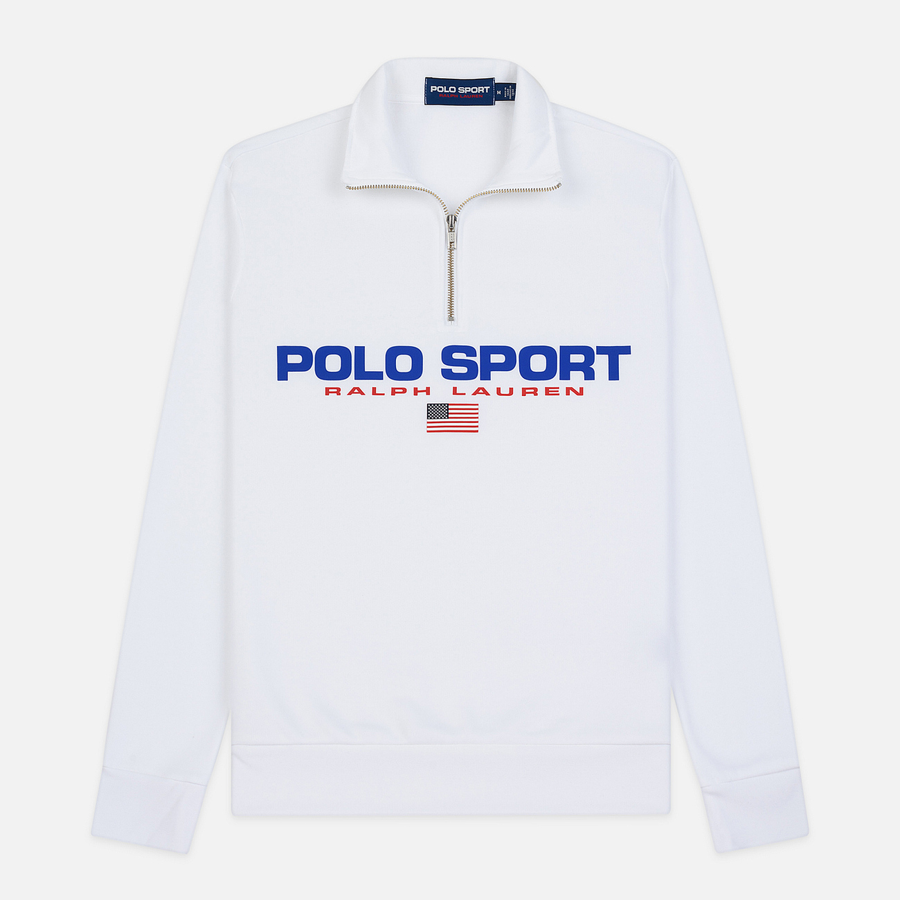 Мужская толстовка Polo Ralph Lauren Polo Sport Half Zip White