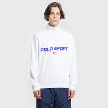 Мужская толстовка Polo Ralph Lauren Polo Sport Half Zip White фото- 1