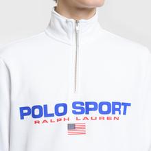 Мужская толстовка Polo Ralph Lauren Polo Sport Half Zip White фото- 2