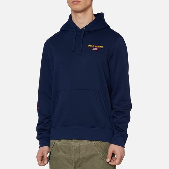 Мужская толстовка Polo Ralph Lauren Polo Sport Hoodie Neon Fleece Cruise Navy