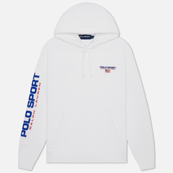 Мужская толстовка Polo Ralph Lauren Polo Sport Hoodie Neon Fleece White