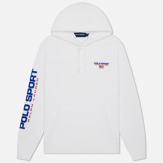 Мужская толстовка Polo Ralph Lauren Polo Sport Hoodie Neon Fleece White
