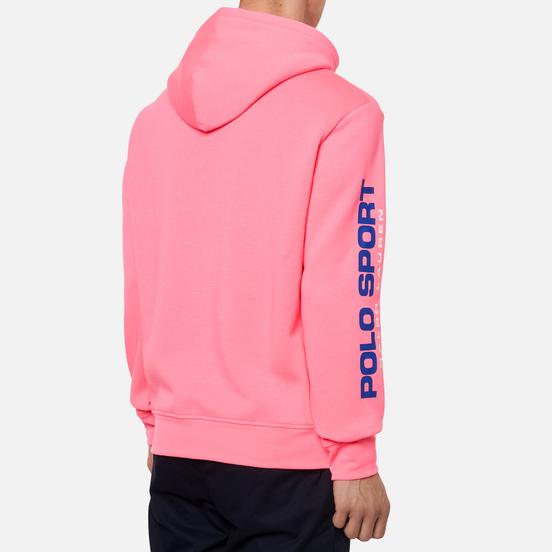 Мужская толстовка Polo Ralph Lauren Polo Sport Neon Fleece Hoodie Blaze Knockout Pink