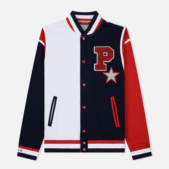 Мужская толстовка Polo Ralph Lauren Polo Star Baseball Bomber White/Multicolor