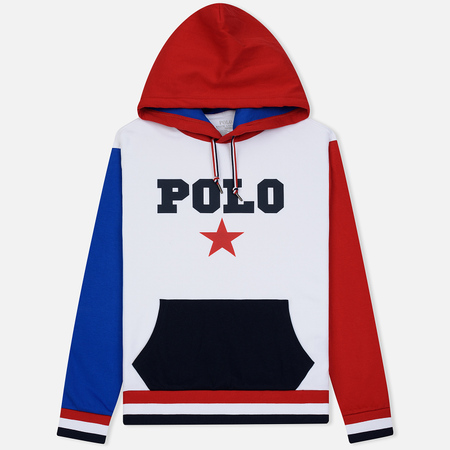 Мужская толстовка Polo Ralph Lauren Polo Star Hoodie White/Multicolor