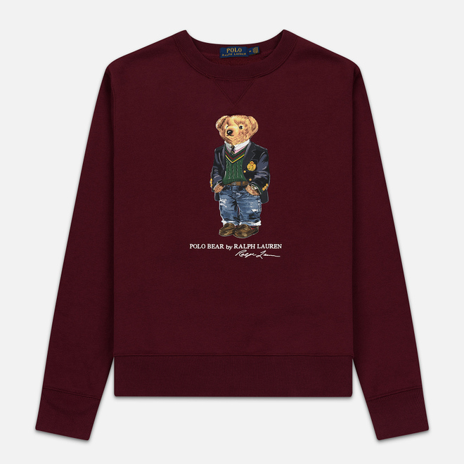 Мужская толстовка Polo Ralph Lauren Preppy Bear Fleece Classic Wine