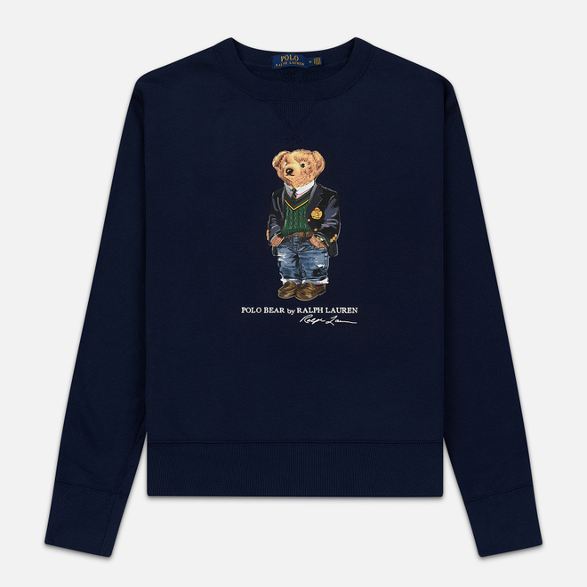 Мужская толстовка Polo Ralph Lauren Preppy Bear Fleece Cruise Navy