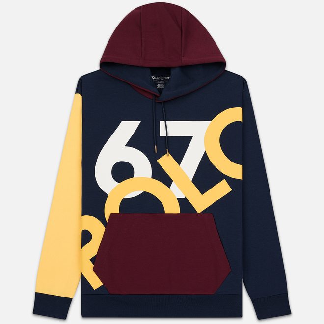 Мужская толстовка Polo Ralph Lauren Print Polo 67 Hoodie Cruise Navy/Multicolor