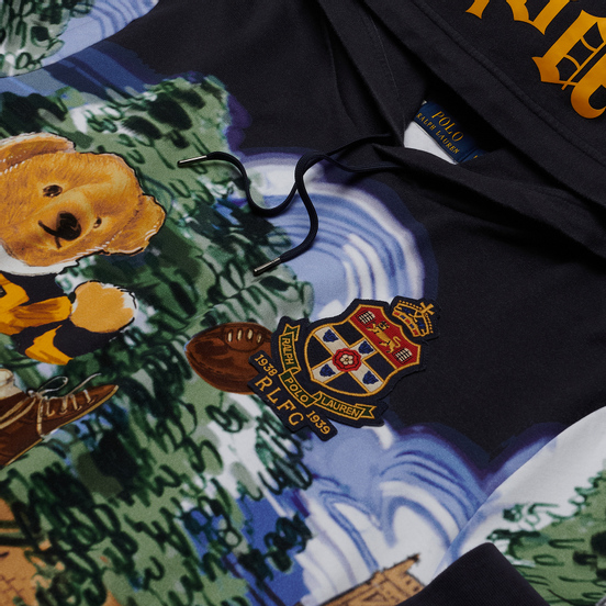 Мужская толстовка Polo Ralph Lauren Rugby Bear Hoodie Multicolor