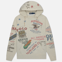 Мужская толстовка Polo Ralph Lauren Saranac Lake Graphic Vintage Fleece Hoodie Oatmeal Heather
