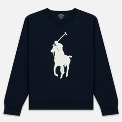 Мужская толстовка Polo Ralph Lauren Signature Embroidered Big Pony Crew Neck Aviator Navy/Cream