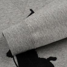 Мужская толстовка Polo Ralph Lauren Signature Embroidered Big Pony Crew Neck Battalion Grey Heather/Black фото- 3