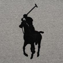 Мужская толстовка Polo Ralph Lauren Signature Embroidered Big Pony Crew Neck Battalion Grey Heather/Black фото- 2