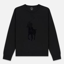 Мужская толстовка Polo Ralph Lauren Signature Embroidered Big Pony Crew Neck Black фото- 0