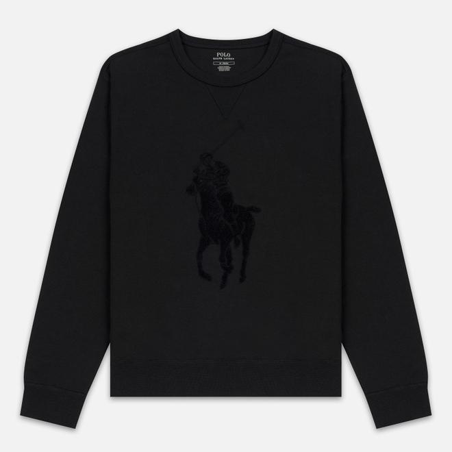 Мужская толстовка Polo Ralph Lauren Signature Embroidered Big Pony Crew Neck Black