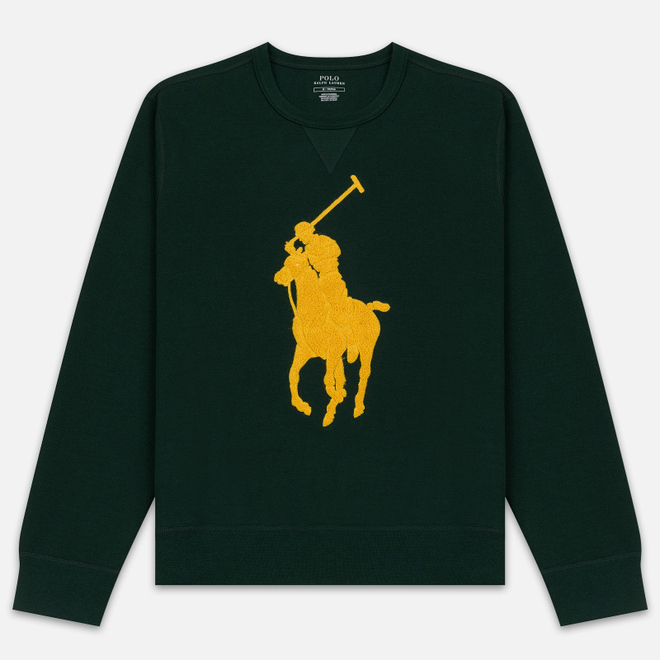 Мужская толстовка Polo Ralph Lauren Signature Embroidered Big Pony Crew Neck College Green