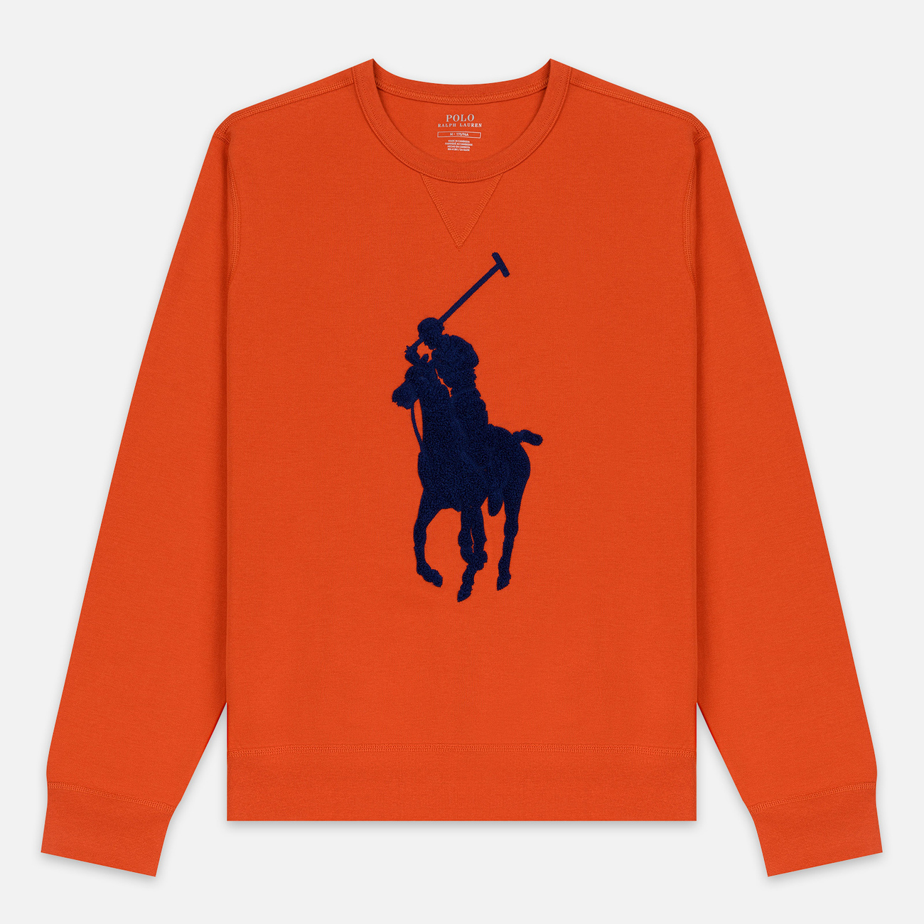 Мужская толстовка Polo Ralph Lauren Signature Embroidered Big Pony Crew Neck College Orange