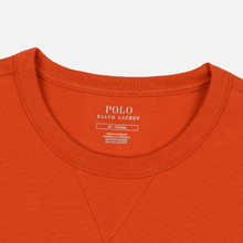 Мужская толстовка Polo Ralph Lauren Signature Embroidered Big Pony Crew Neck College Orange фото- 1
