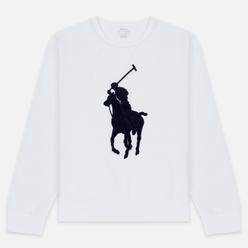 Мужская толстовка Polo Ralph Lauren Signature Embroidered Big Pony Crew Neck White/Navy